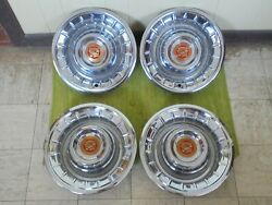 Show Quality 1956 Cadillac Hub Caps 15 Set Of 4 Caddy Wheel Covers Hubcaps 56