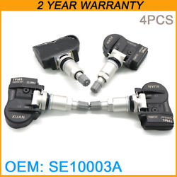 4x Programmable New Se10003a 315mhz Tire Pressure Monitoring System Tpms Sensor