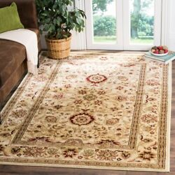 Traditional Vintage Floral Oriental Square Area Rug Carpet 8' X 8' - Ivory/ivory