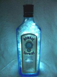 Bombay Sapphire London Dry Gin Accent Light W/ 100 White Motion Leds Inside
