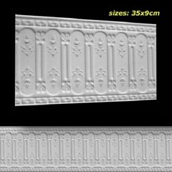 Dollhouse Miniature Wainscoting Wall Panel Embossed Foam Board 112 Scale 34940