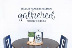 Kitchen Wall Decal Memories Gathered Around The Table Home Decor Art Sticker