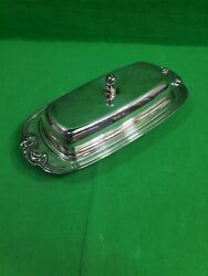 Vintage Wa Rogers Silverplate Butter Dish