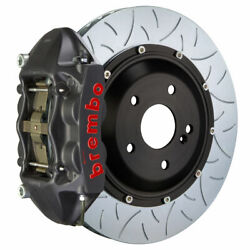 Brembo Gt-s Brakes Rear 4 Pot Hard Slotted Type-3 345x28 2pc For 08-14 Wrx Sti