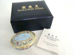 Halcyon Days Enamel Annual Year Box 2020 With Box And Coa New Mint