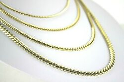 14k Solid Yellow Gold Miami Cuban Link Chain Necklace Everyone 2.5mm 5mm 18-30