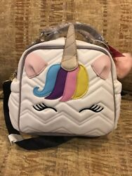 Betsey Johnson UNICORN Tote Bag Purse Quilted Shoulder Strap NWT $72.50