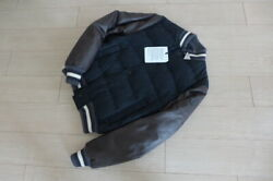 Moncler Rare Leather Down Jacket Teddy Stajan Lightweight Men 3 By Dhl