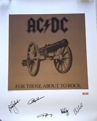 Ac/dc Signed Album Print Angus Malcolm Young Ac Dc Group Beckett Loa