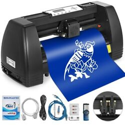 14 Inch Vinyl Cutter Plotter Machine With Signmaster Software 350mm Paper Feed