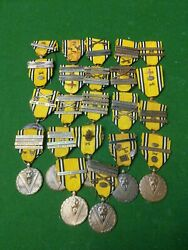 Ww2 Large. Unique Belgian Medal Collection With Campaign Bars 22x Rare Chance