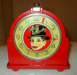 Charlie Mccarthy Clock / 1930and039s Gilbert Clock Corp. / Animated And Rare