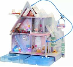 Lol Surprise O.m.g. Winter Chill Cabin Wooden Doll House With 95+ Surprises