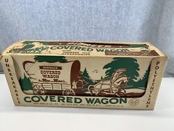 Vintage Marx Pioneer Covered Wagon Toy Accessories Complete In Box Chuck Wagon