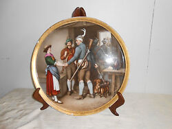 Antique Austrian Porcelain Hand Painted Charger Or Large Plate
