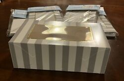 12-pack 8 Cupcake Each Or Cake Treat Boxes Bakery Box Clear Display Window Lot