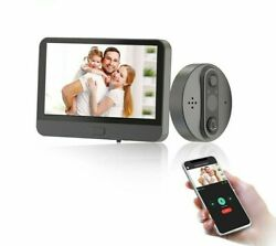 Video Wireless Doorbell Wifi Connection Peephole Camera App/remote Dual-way 220v