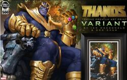 Sideshow Collectibles Ex Thanos On Throne Variant Art Printlimited To 500