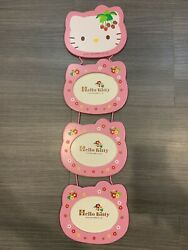 Vintage 19762001 Sanrio Co Hello Kitty Wall Hang Wooden Picture Photo Frame 4R