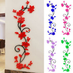 3D Flower Decor Art Home Office Living Room Wall Stickers Wall Decal