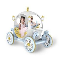 Disney Princess Carriage Ride On 2 Seater Kids Toy W/ Lights Sounds 2 Speed 24v