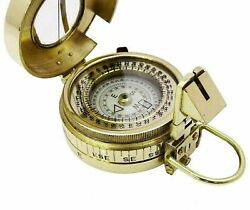 Vintage Military Nautical Brass Compass Antique Collectible Decor Gift Item