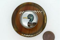 Antique Austro Hungarian Silver And Banded Agate Essex Crystal Duck Box C1890