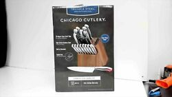 Insignia Steel Chicago Cutlery Stainless Steel Knife 18 Piece Block Set
