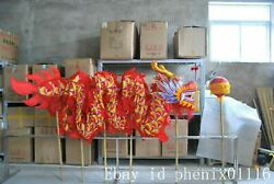 6m Adult Led Dragon Dance Silk Fabric Chinese Culture Folk Costume Stage Prop