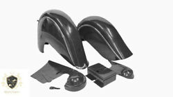 Indian Chief Front And Rear Black Fender Mudguards + Chain Guard Post War fit For