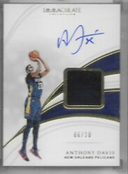 2018-19 Immaculate Sneaker Swatch Autographs Gold- Anthony Davis /10 La Lakers
