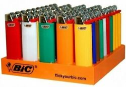 50 Ct Big Size Bic Lighter Assorted Multi Color Flint Kitchen Bbq Fire Place Aid