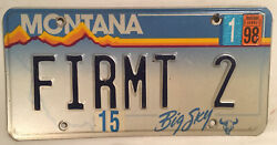 Vanity Fir For Mt 2 License Plate Christmas Tree Pine Yellowstone Park Firmt