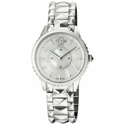 Gv2 By Gevril Womenand039s 11700-424 Carrara Watch Stainless Steel Silver Mop Dial