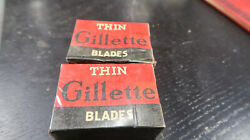 Safety Razor Blades Lot Boxed Gillette Thin Blades 2 Boxes Of 12