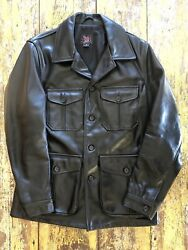 Woolrich Woolen Mills 2011 Black Leather Jacket Sz.m Made In Usa Rare