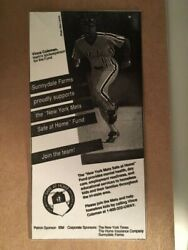 Ny Mets 1991 Sunnydale Farms Vince Coleman Container Card