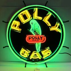 Polly Gas Vintage Look Indoor Sign Mancave Neon Light Neon Sign 24x24 5gsply