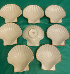 Mikasa Scallop Shell Dish Dx-100 Seashell Set Of 8 Price Is For All 8 Pcs