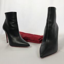 Christian Louboutin Black So Kate Booty 100 Ankle Boots 37.5