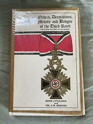 Ww2 German Book - Orders, Decorations, Medals And Badges Of The Third Reich