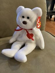 Valentino Bear Beanie Baby Ty With Errors Rare Brown Nose And Tag. Mint Condition