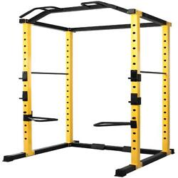 Home Gym Power Rack Weight Lifting Strength Training Squat Bench Adjustable