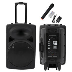 12in Professional Power Active 1500w Dj Pa Speaker Bluetooth Usb Remote Portable