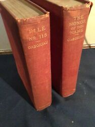 1900 E. Gaboriau Lot Of 2 Charles Scribnerandrsquos - File 113 And The Honor Of The Name