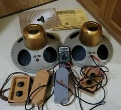 Vintage Tannoy 12 Gold Monitor Dual Concentric Loud Speakers Mint