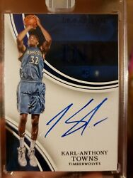Karl Anthony Towns Immaculate Ink Rookie Auto 1/1 Black Box Ultra Rare