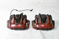 10-18 Mercedes W212 E350 E250 Front Brake Calipers Left And Right Set Oem