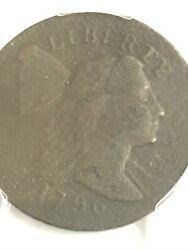 1796 Large Cent Liberty Cap Pcgs Vf Detail Exc Corr. Nice Looking See The Pics