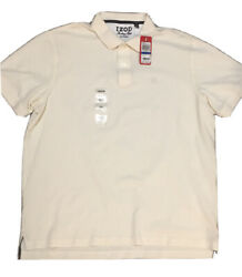 Nwt Izod 2-button Heritage Polo Dress Shirt Size Xl- X Large Off-white Top 100